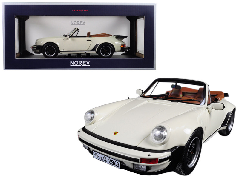 1987 Porsche 911 Turbo Cabriolet Ivory 1/18 Diecast Model Car Norev 187661