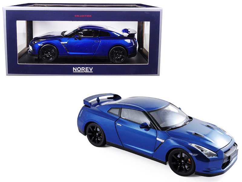 2008 Nissan GTR R-35 Blue 1/18 Diecast Model Car Norev 188052