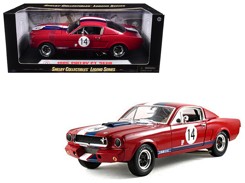 1965 Ford Shelby Mustang GT350R Red #14 1/18 Diecast Car Model Shelby Collectibles SC363