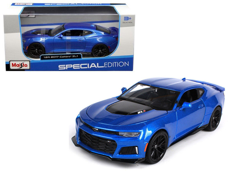 2017 Chevrolet Camaro ZL1 Blue 1/24 Diecast Model Car Maisto 31512