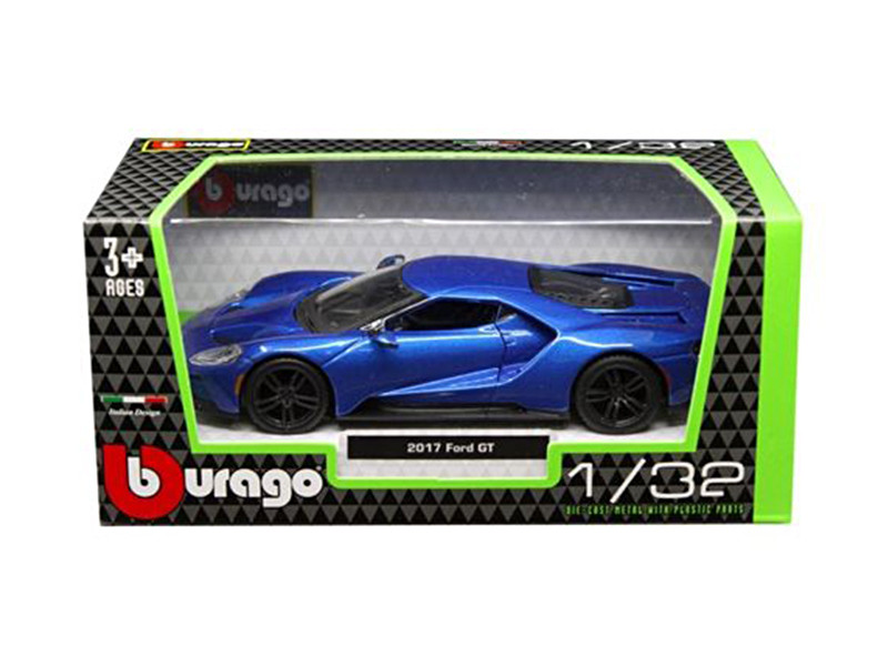 2017 Ford GT Blue 1/32 Diecast Model Car Bburago 43043