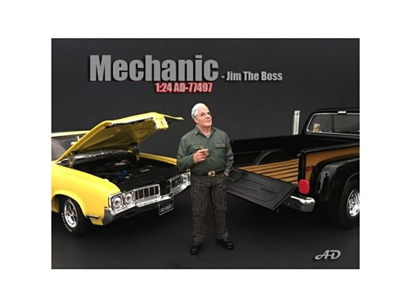 Mechanic Jim The Boss Figurine Figure For 1:24 Models American Diorama 77497