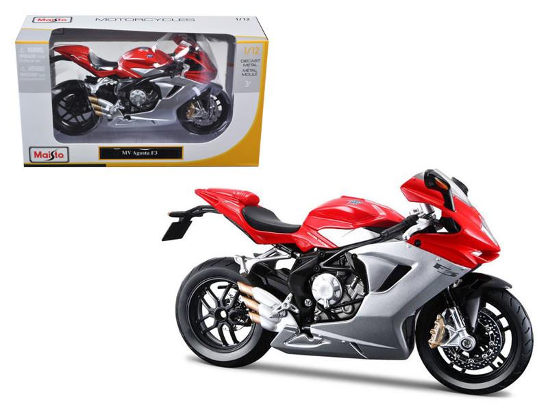 2012 MV Agusta F3 Red Bike Motorcycle 1/12 Diecast Model Maisto 11093
