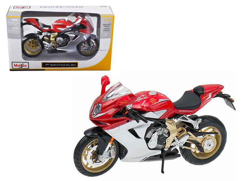 2012 MV Agusta F3 Serie Oro Red Bike Motorcycle 1/12 Diecast Model Maisto 11095