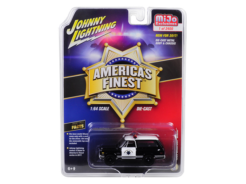 1969 Chevrolet Blazer America's Finest Highway Patrol Hobby Exclusive Limited Edition to 2400pcs 1/64 Diecast Model Car Autoworld CP7027
