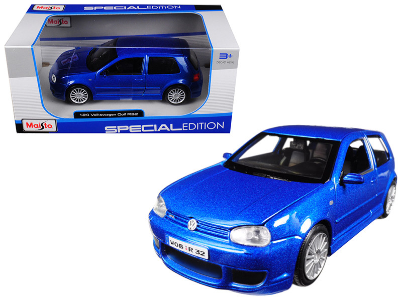 Volkswagen Golf R32 Blue 1/24 Diecast Model Car Maisto 31290