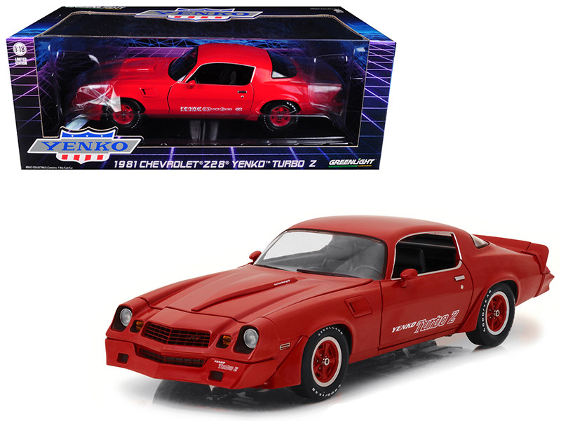 1981 Chevrolet Camaro Z/28 Yenko Turbo Z Red 1/18 Diecast Model Car Greenlight 12999