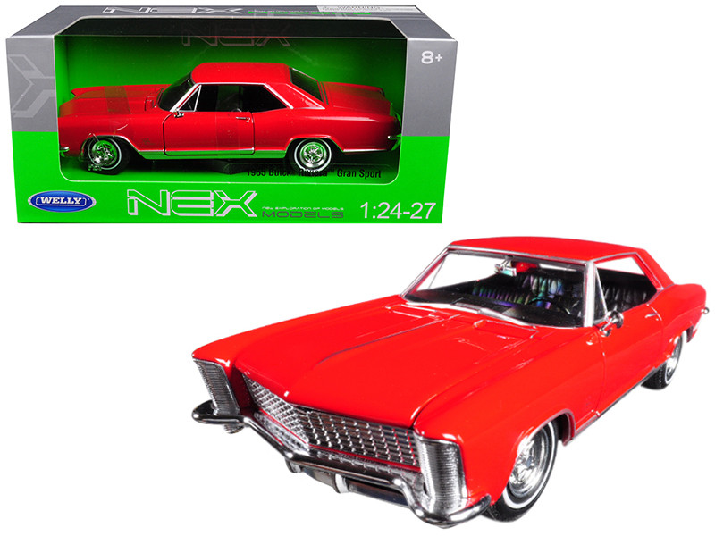 1965 Buick Riviera Gran Sport Red 1/24 1/27 Diecast Model Car Welly 24072