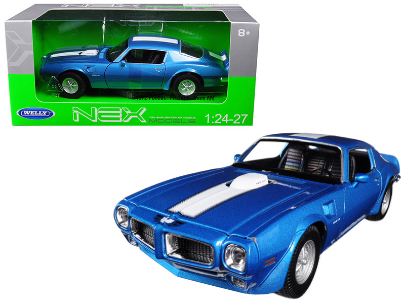1972 Pontiac Firebird Trans Am Blue 1/24 1/27 Diecast Model Car Welly 24075