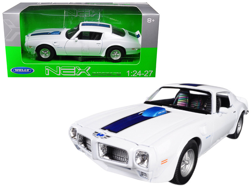 1972 Pontiac Firebird Trans Am White 1/24 1/27 Diecast Model Car Welly 24075