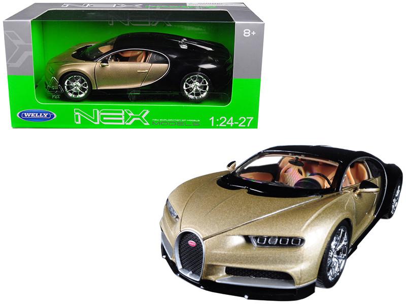 Bugatti Chiron Gold Black 1/24 1/27 Diecast Model Car Welly 24077