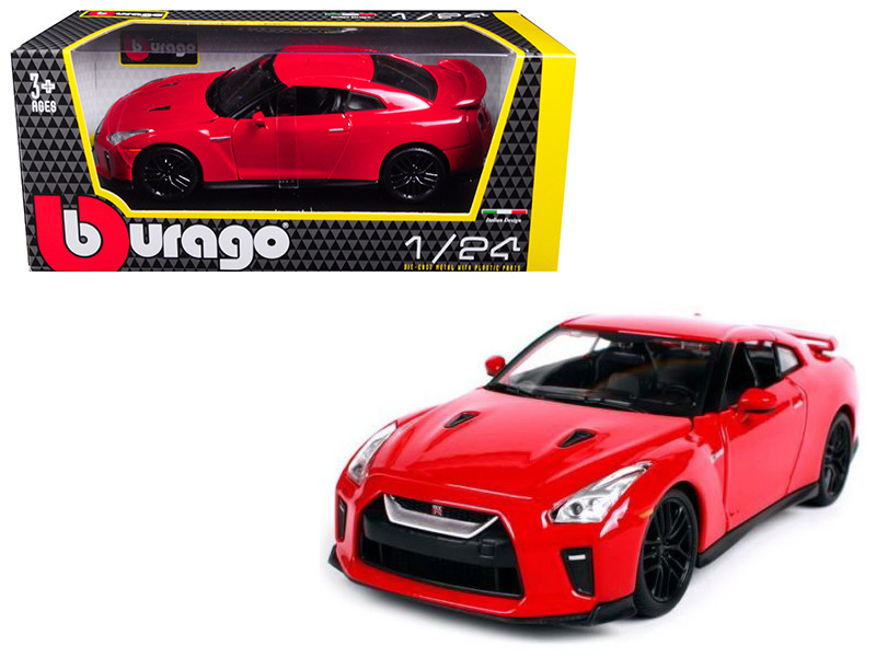 2017 Nissan GT-R R35 Red 1/24 Diecast Car Model BBurago 21082