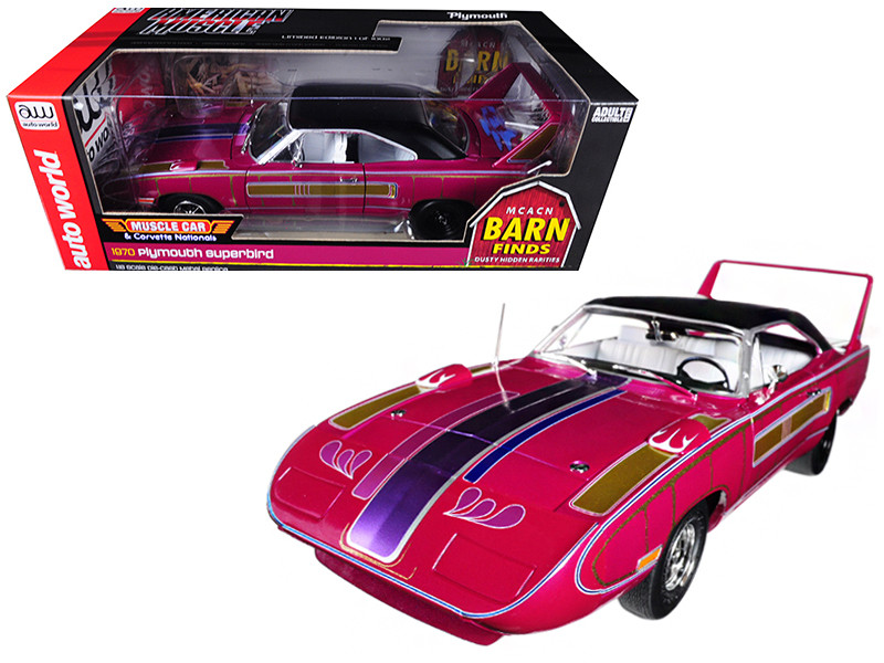 1970 Plymouth Superbird Hardtop Barn Find MCACN Limited Edition to 1002pc 1/18 Diecast Model Car Autoworld AMM1113