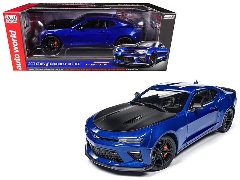 2017 Chevrolet Camaro SS 1LE 50th Anniversary Limited Edition to 1002pc 1/18 Diecast Model Car Autoworld AW241