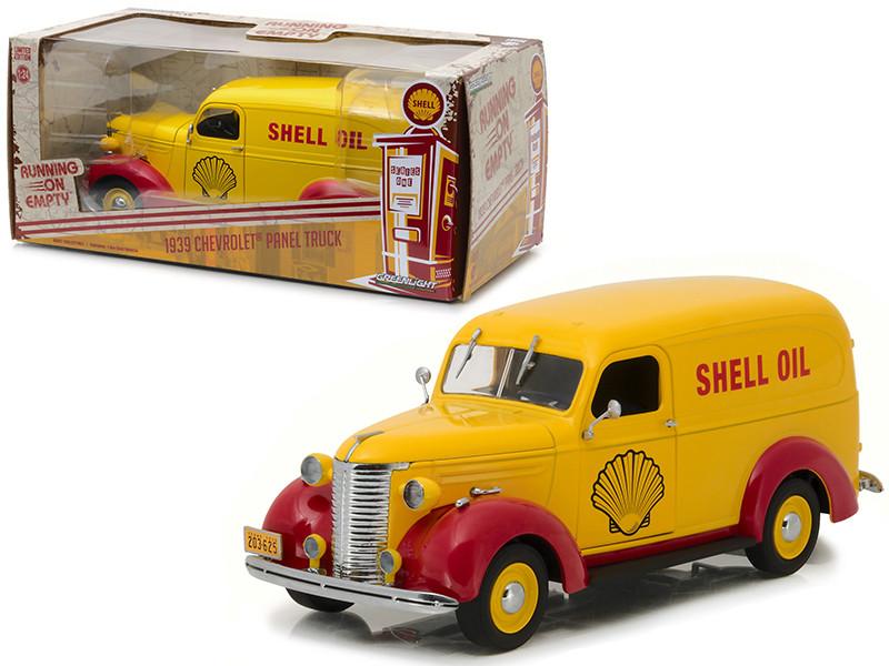 1939 Chevrolet Panel Truck Shell Oil Running on Empty Series 1/24 Diecast Model Car Greenlight 18237