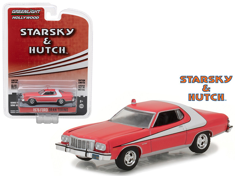 1976 Ford Gran Torino Starsky and Hutch 1975-1979 TV Series Hollywood Series 18 1/64 Diecast Model Car Greenlight 44780 A