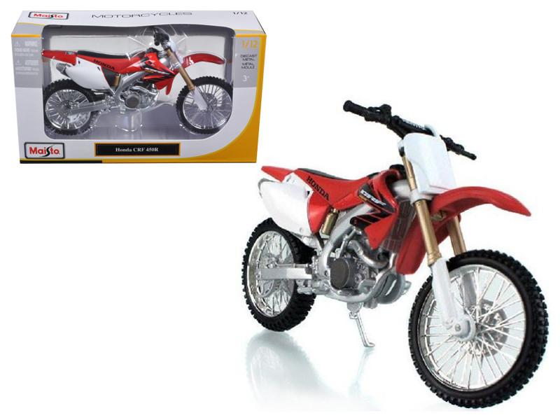 Honda CRF 450R White/Red Motorcycle 1/12 Diecast Model Maisto 31104