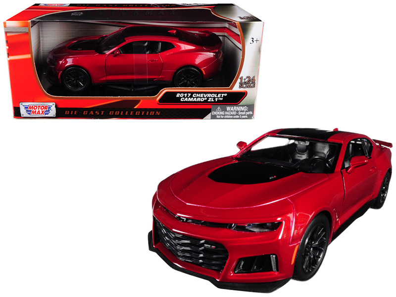 2017 Chevrolet Camaro ZL1 Burgundy 1/24 Diecast Car Model Motormax 79351
