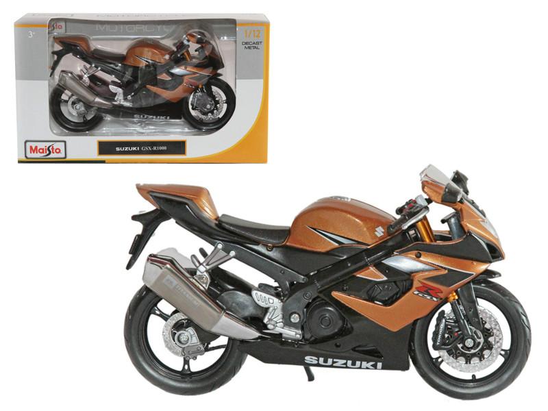 Suzuki GSX R1000 Bronze Motorcycle 1/12 Diecast Model Maisto 31106