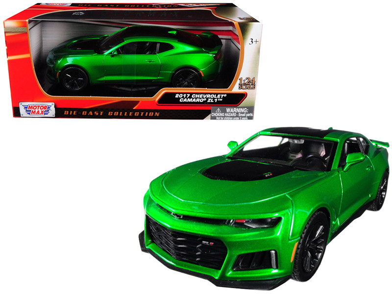 2017 Chevrolet Camaro ZL1 Metallic Green 1/24 Diecast Car Model Motormax 79351