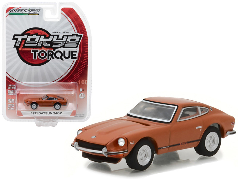 1971 Datsun 240Z 918 Orange Tokyo Torque Series 1 1/64 Diecast Model Car Greenlight 29880 B