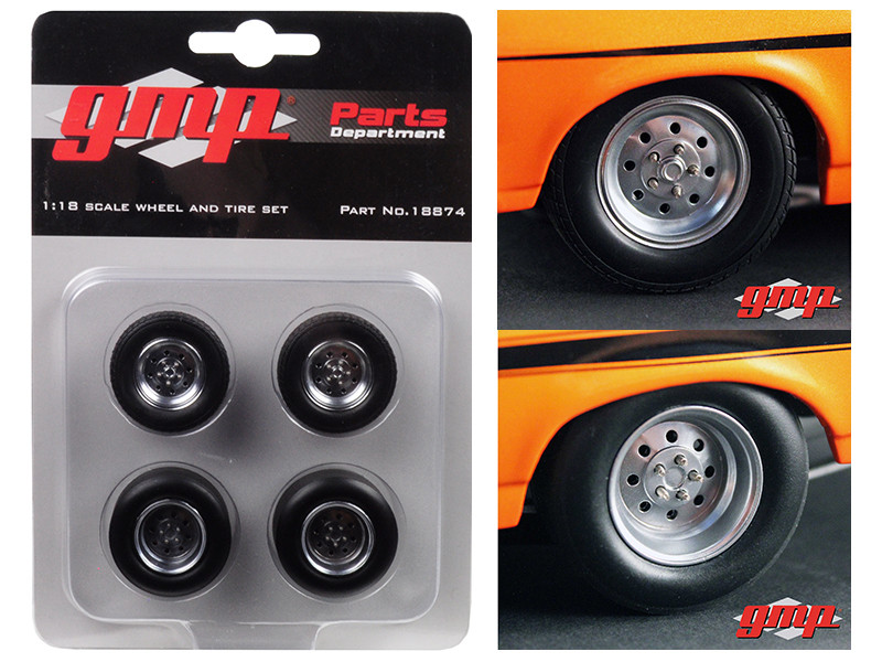 1968 Chevrolet Nova 1320 Drag King's Wheels and Tires Set of 4 1/18 GMP 18874