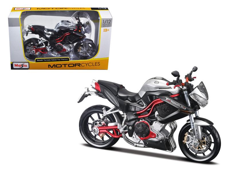 Benelli Tornado Naked Tre Titanium Motorcycle 1/12 Diecast Model Maisto 31179