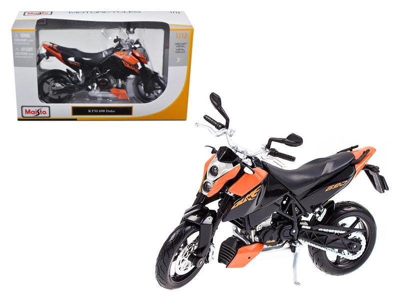 KTM 690 Duke Orange / Black Motorcycle 1/12 Diecast Model Maisto 31181