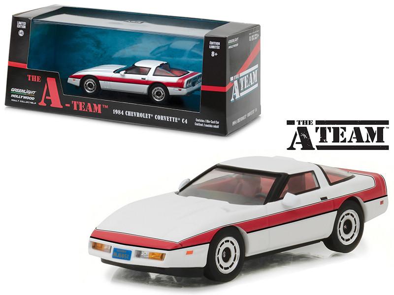 1984 Chevrolet Corvette C4 The A Team 1983-1987 TV Series 1/43 Diecast Model Car Greenlight 86517