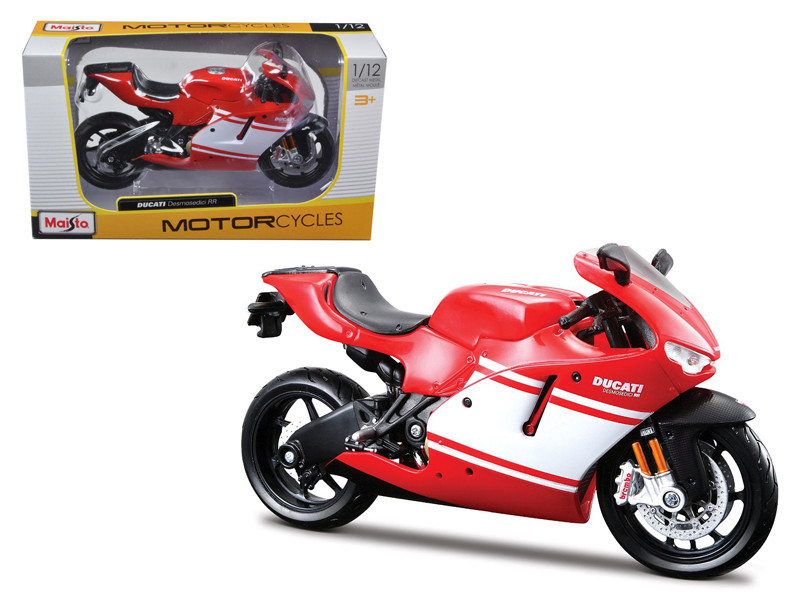 Ducati Desmosedici RR Red Motorcycle Red/White 1/12 Diecast Model Maisto 31190