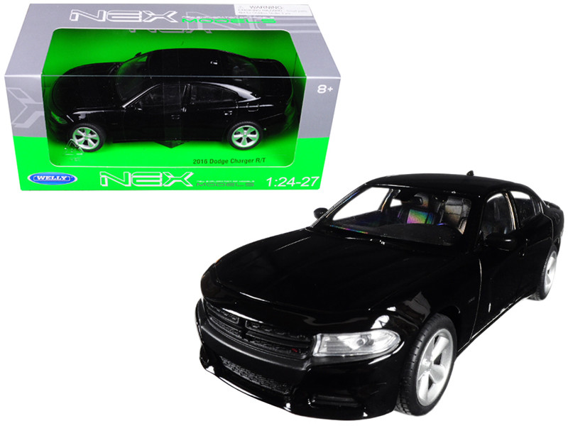 2016 Dodge Charger R/T Black 1/24 1/27 Diecast Model Car Welly 24079