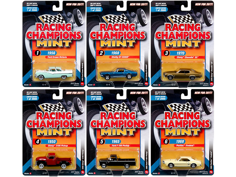 2017 Mint Release 3 Set A Set of 6 Cars 1/64 Diecast Model Cars by Racing Champions