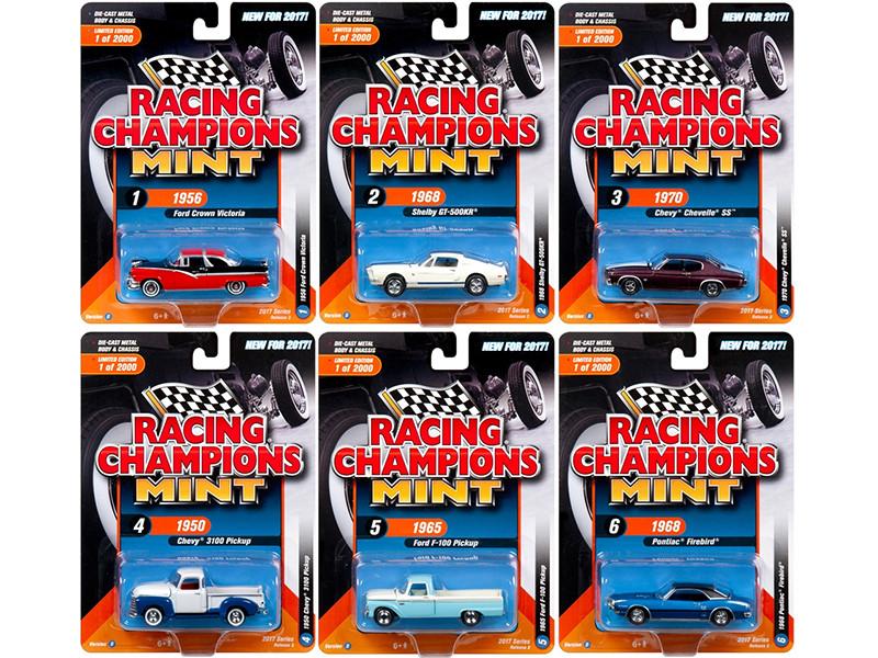 2017 Mint Release 3 Set B Set of 6 Cars 1/64 Diecast Model Cars Racing Champions RC005 B