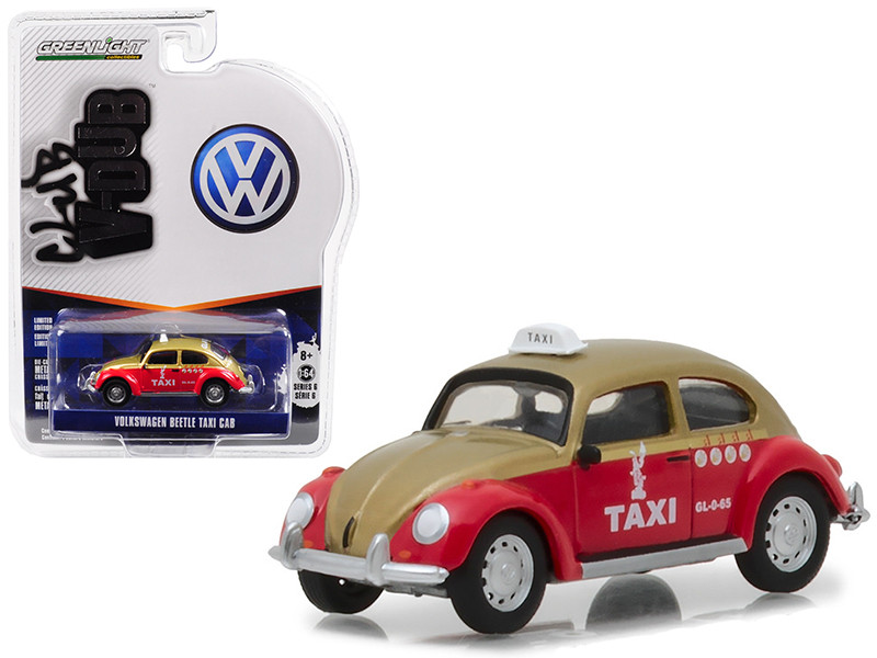 Classic Volkswagen Beetle Mexico City Taxi Vee Dub Series 6 1/64 Diecast Model Car Greenlight 29890 F
