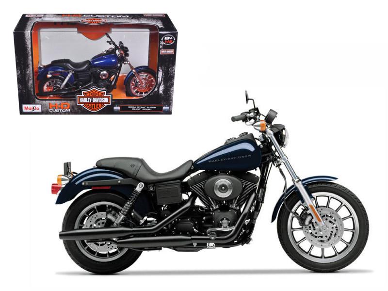 2004 Harley Davidson Dyna Super Glide Sport Bike Motorcycle 1/12 Model Maisto 32321