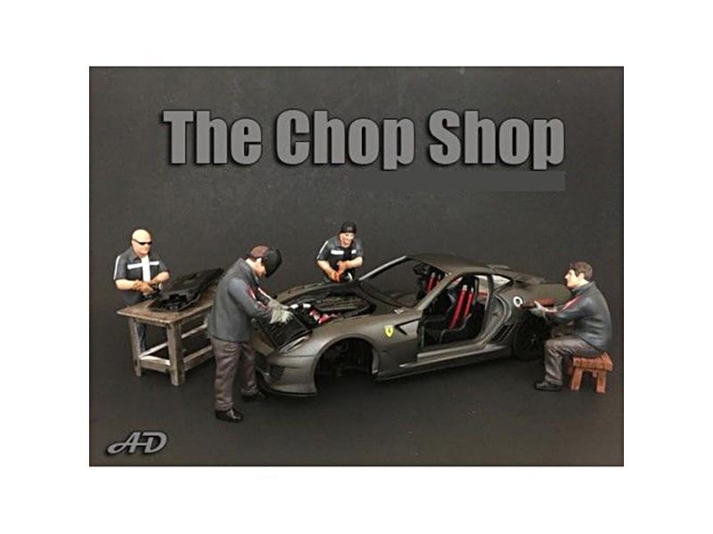 Chop Shop 4 Piece Figure Set for 1:24 Scale Models American Diorama 38259 38260 38261 38262