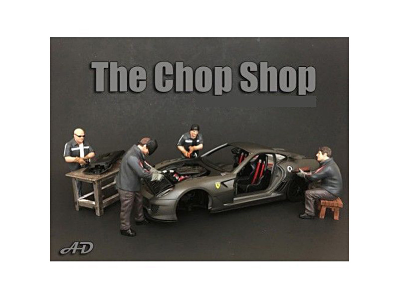 Chop Shop 4 Piece Figure Set for 1:24 Scale Models American Diorama 38259 38260 38261 38262