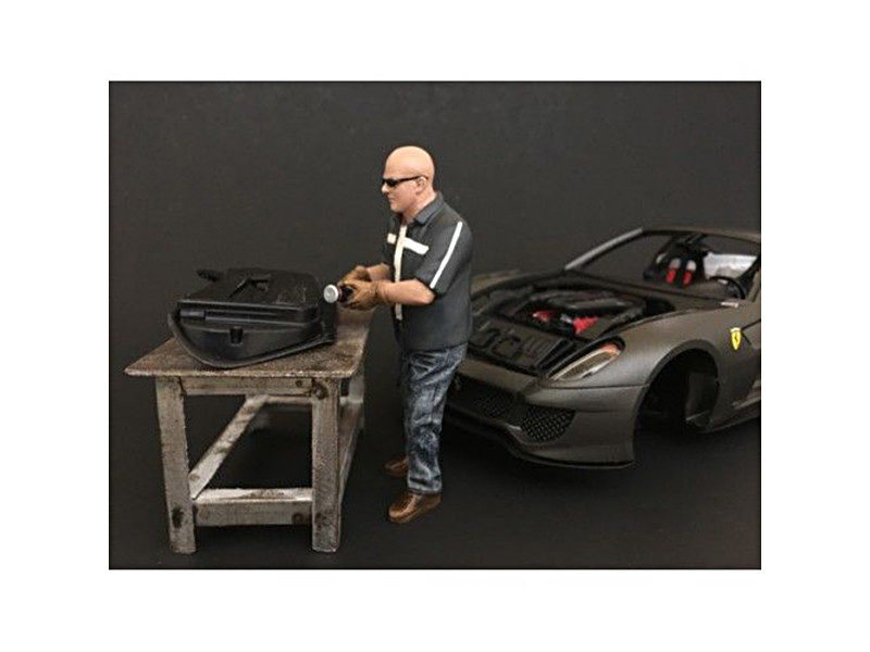 Chop Shop Mr. Fabricator Figure for 1:24 Scale Models American Diorama 38260