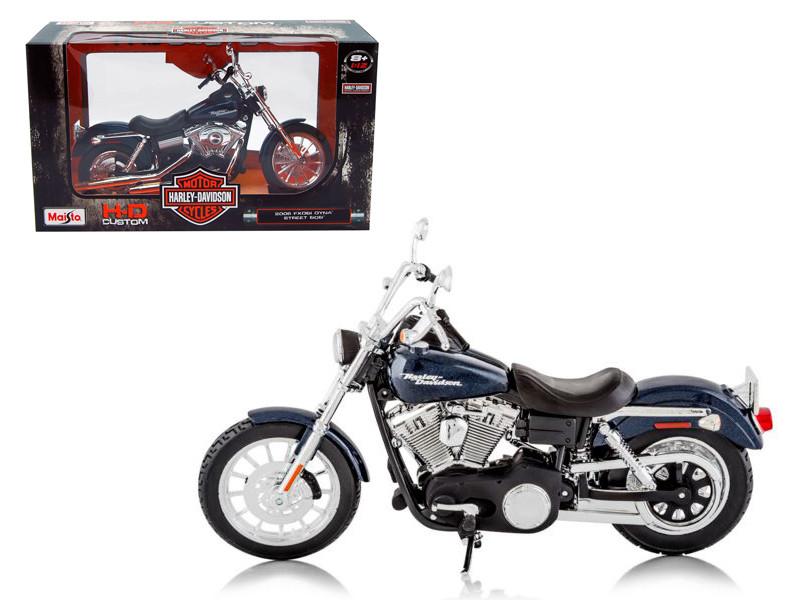 2006 Harley Davidson FXDBI Dyna Street Bob Bike Motorcycle Model 1/12 Maisto 32325