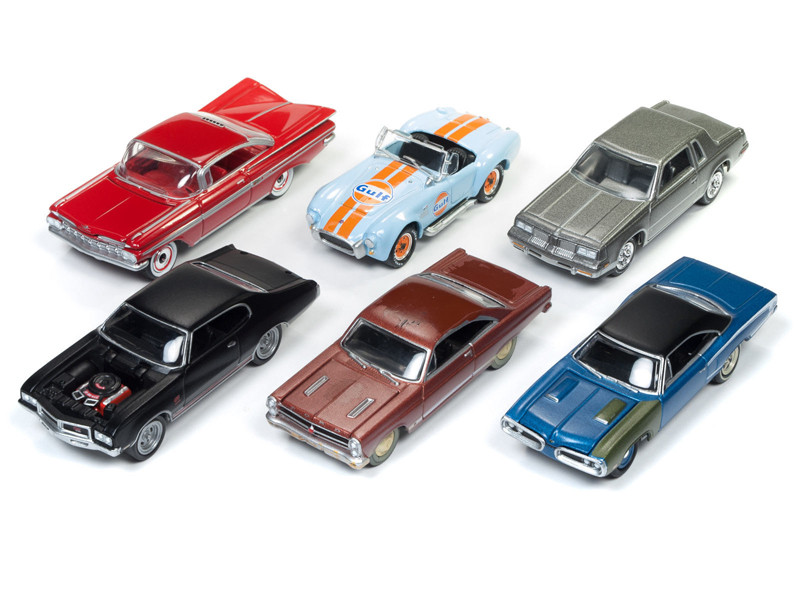 Muscle Cars USA 2018 Release 1 Set A of 6 Cars 1/64 Diecast Model Cars Johnny Lightning JLMC012 A