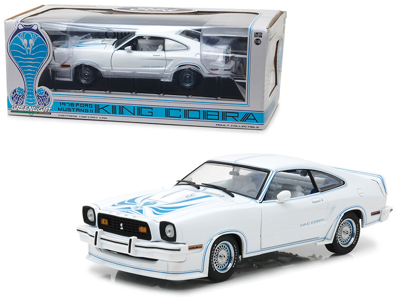 1978 Ford Mustang II King Cobra White 1/18 Diecast Car Model Greenlight 13508