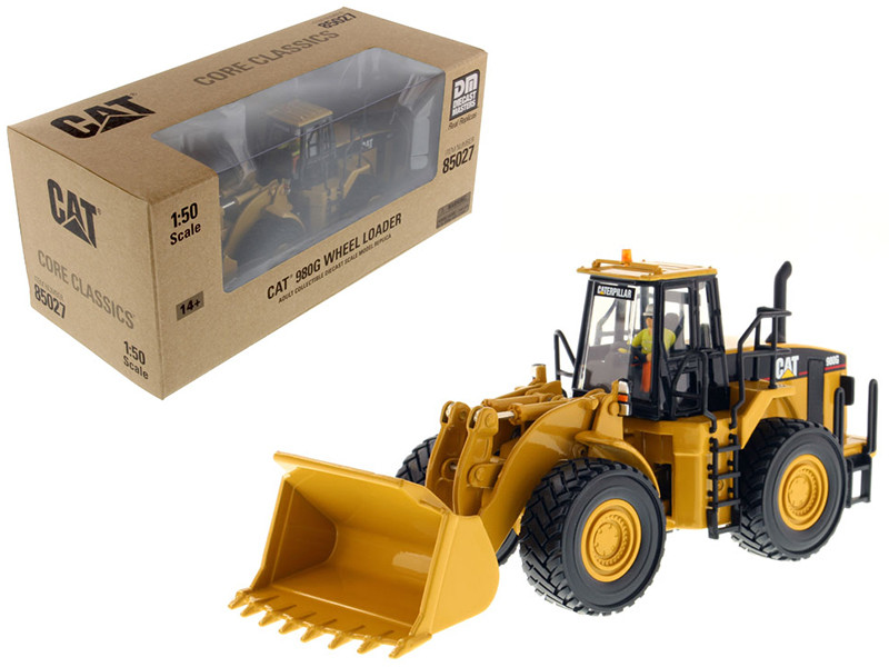 CAT Caterpillar 980G Wheel Loader with Operator 1/50 Diecast Model Diecast Masters 85027 C