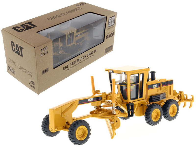 Caterpillar 140H Motor Grader Core Classics Series with Operator 1/50 Diecast Model Diecast Masters 85030 C