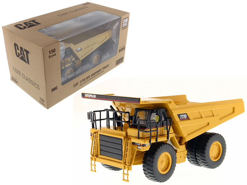 CAT Caterpillar 777D Off Highway Dump Truck Core Classics Series with Operator 1/50 Diecast Model Diecast Masters 85104