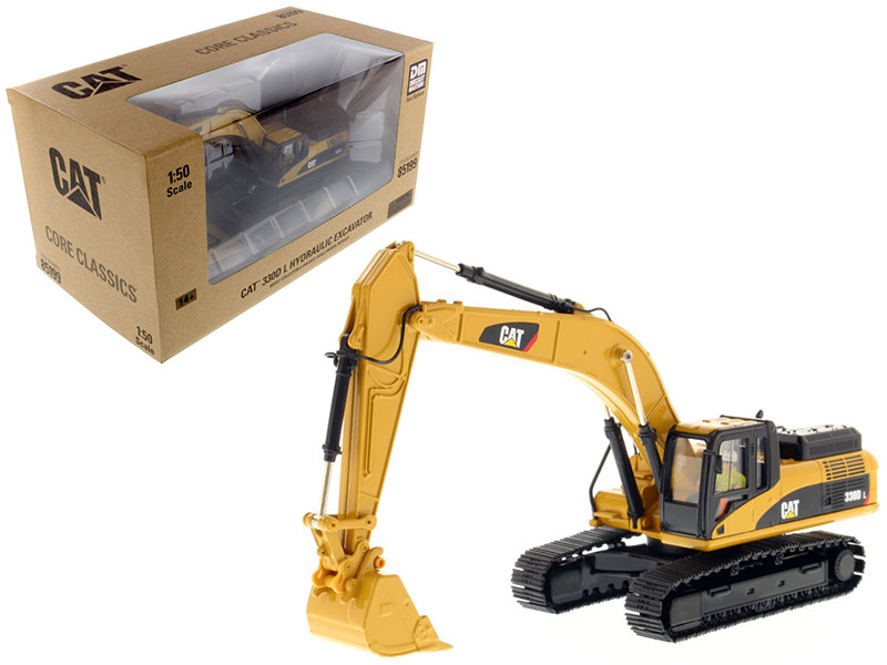 CAT Caterpillar 330D L Hydraulic Excavator Core Classics Series with Operator 1/50 Diecast Model Diecast Masters 85199
