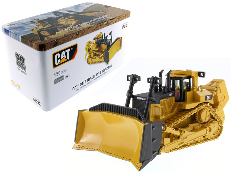 CAT Caterpillar D11T Track Type Tractor with Operator 1/50 Diecast Model Diecast Masters 85212