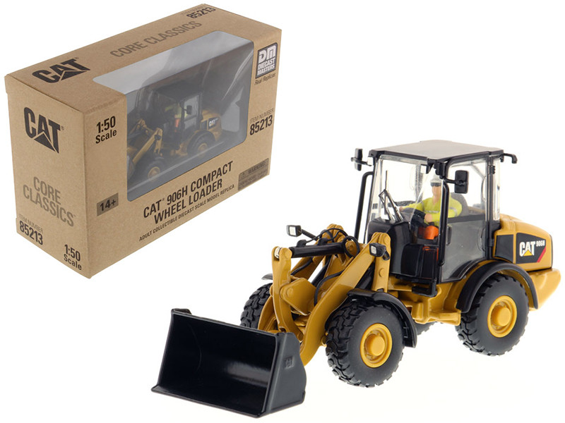CAT Caterpillar 906H Compact Wheel Loader Core Classics Series with Operator 1/50 Diecast Model Diecast Masters 85213