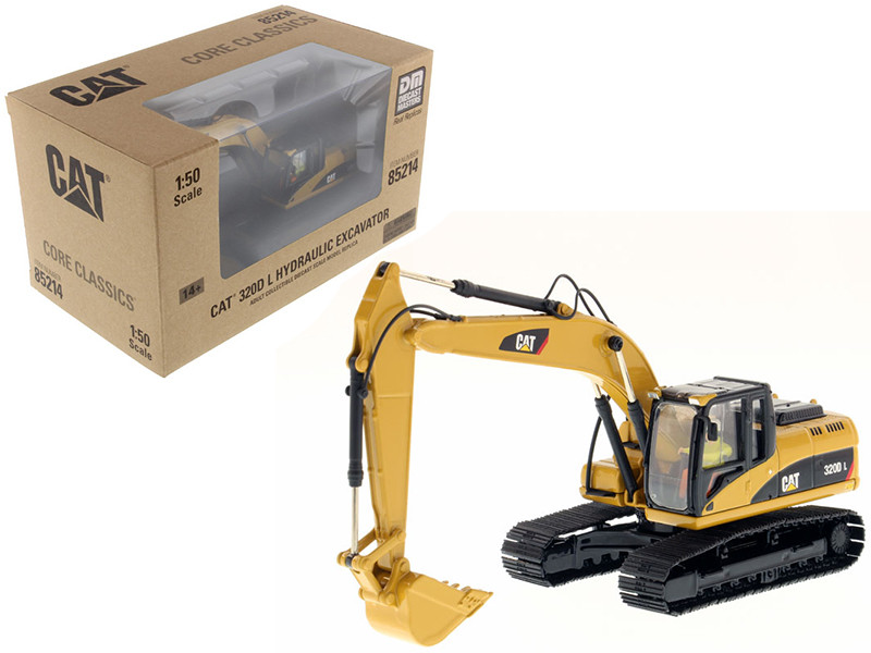 CAT Caterpillar 320D L Hydraulic Excavator with Operator 1/50 Diecast Model Diecast Masters 85214 C