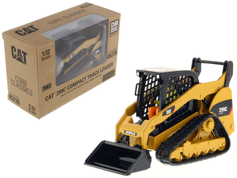 CAT Caterpillar 299C Compact Track Loader With Working Tools with Operator Core Classics Series 1/32 Diecast Model Diecast Masters 85226