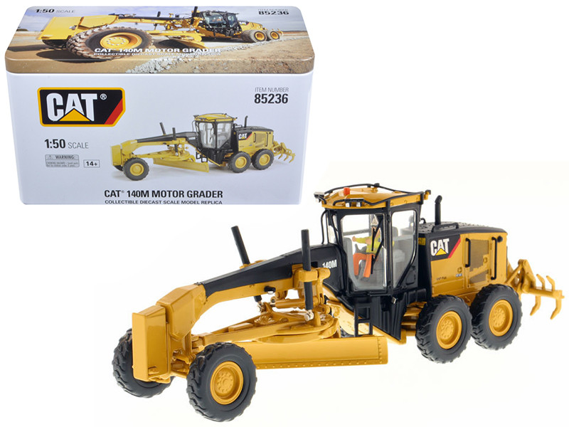 CAT Caterpillar 140M Motor Grader with Operator High Line Series 1/50 Diecast Model Diecast Masters 85236